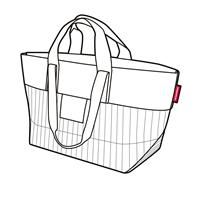 reisenthel #urban bag tokyo black & white PO7049