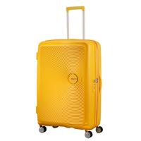American Tourister Soundbox Spinner 77/28 Golden Yellow erweiterbar