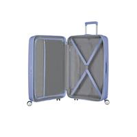 American Tourister Soundbox Spinner 77/28 Denim Blue erweiterbar