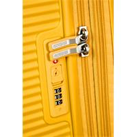 American Tourister Soundbox Spinner 67/24  Golden Yellow erweiterbar