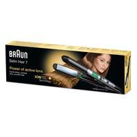 Braun Satin Hair Haarglätter ST710 ES2 schwarz silber