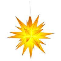 Herrnhuter A1E Stern Kunststoff 13 cm gelb mit LED