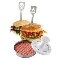 Gefu Spark Party Burgerpresse + 2 Hamburgerspieße
