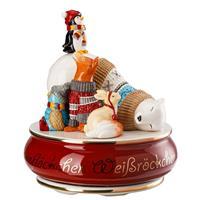 Hutschenreuther Schneeflöckchen Weißröckchen Spieluhr  groß Lieduhr Porzellan