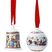 Hutschenreuther Sammelkollektion 20 Weihnachtsbäckerei Set Miniglocke & Minikugel