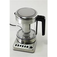 WMF Küchenminis Vario Wasserkocher aus Glas mit integriertem Teesieb 1 Liter