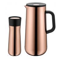 WMF Impulse Isolierkanne für Kaffee und Isolierbecher 2er Set vintage kupfer