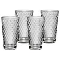 WMF Honeycomb Design Set 4 Latte Macchiato Gläser mit Wabenstruktur