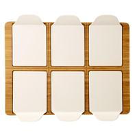 V&B Pizza Passion Partyplatte rechteckig 50,8 x 38 cm Platte Teller 7 teilig