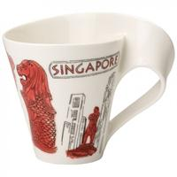 V&B cities of the world Becher mit Henkel Singapur