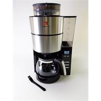 Melitta Aroma Fresh Filter-Kaffeemaschine 1021-01 Kaffeeautomat mit Timer und Mahlwerk silber schwar