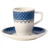 V&B Casale Blu Espressotasse 2 tlg. NEU Obertasse Untertasse Villeroy&Boch