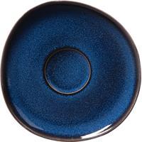 like by V&B Pottery Lave Bleu Kaffeeuntertasse Kaffee Untere Steingut blau
