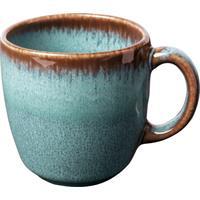like by V&B Pottery Lave Glace Kaffeeobertasse 0,19L Kaffee Obere Steingut türkis
