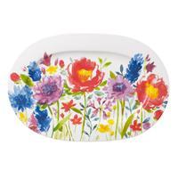 V&B Anmut Flowers Platte oval 34 cm Fleischplatte