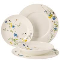 Rosenthal Brilliance Fleurs des Alpes Tafelset 4 tlg. mit Fahnen- und Coup Tellern