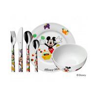 WMF Kinder Set 6 tlg. Mickey Mouse Besteck Geschirr Spülmaschine Micky Maus