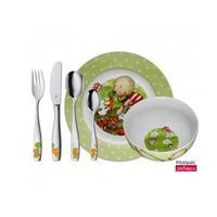 WMF Kinder-Set 6 tlg. Pitzelpatz Geschirr und Besteck Bär Ente Geschenkkrt.