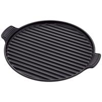 Le Creuset Grillplatte rund 32 cm schwarz Tradition Grillpfanne Induktion