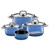 Silit Nature Blue Topfset 4 tlg. mit Stielkasserolle