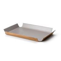 Continenta Tablett rutschfest taupe metallic 45x34 cm