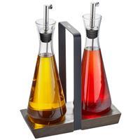 Gefu X-Plosion Essig und Öl Set Glas Edelstahl mit Menage