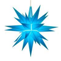 Herrnhuter A1E Stern Kunststoff 13 cm blau mit LED