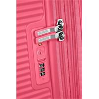 American Tourister Soundbox Spinner 77/28 Hot Pink erweiterbar
