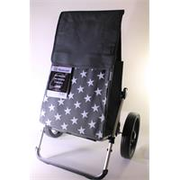 Andersen Royal Shopper Lis Grau mit Sternen 43 Liter Einkaufsroller