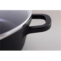 Elo Alucast Servierpfane 28 cm mit Glasdeckel rund antihaft