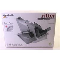 Ritter Alleschneider E 16 Duo Plus silbermetallic zwei Messer