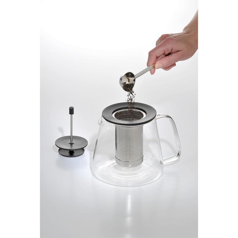 WMF TeaTime Tee Set 2 tlg.Teekanne 1,2 l.Glas m.Sieb Stövchen Edelstahl Tea Time