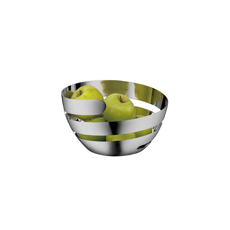 WMF Lounge Living Peel Korb 26 cm Obstkorb Edelstahl Design Spirale Cromargan