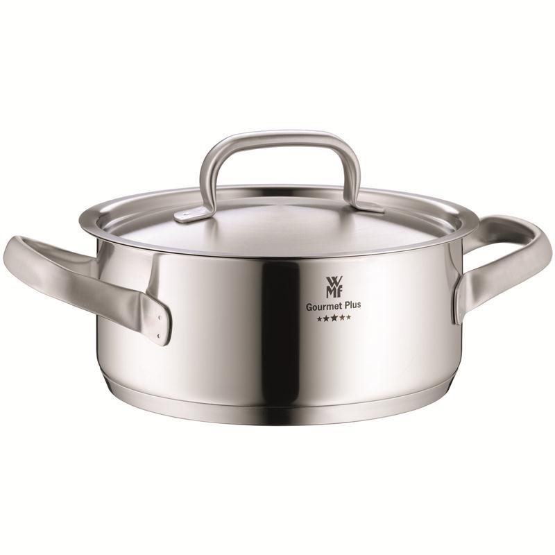 WMF Gourmet Plus Bratentopf 16 cm 1,4 ltr.Induktion matt Aufliege Metalldeckel