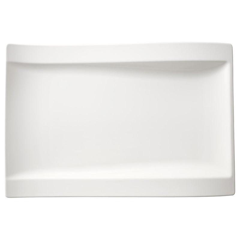 v b new wave set 4 gourmetteller 37 x 25 cm teller rechteckig platte eckig. Black Bedroom Furniture Sets. Home Design Ideas