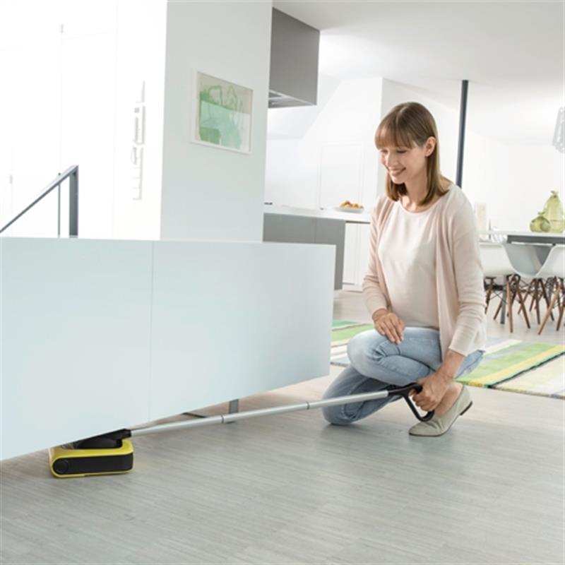 k rcher akku besen kb5 f r hartboden teppich 1258000 akku kehrer beutellos gelb ebay. Black Bedroom Furniture Sets. Home Design Ideas