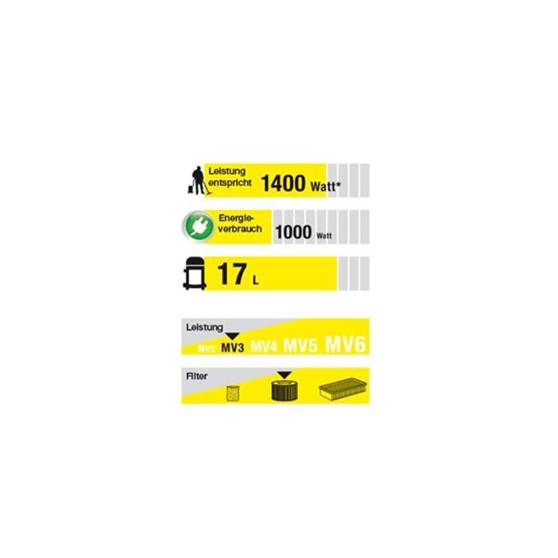 Kärcher Mehrzwecksauger WD 3 Premium WD3 Nass-Trocken-Sauger Edelstahl