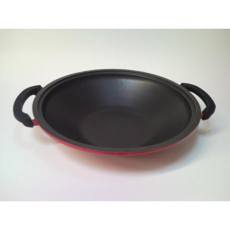 schulte ufer wok gloria i rot induktion aluguss 36 cm induktion glasdeckel ebay