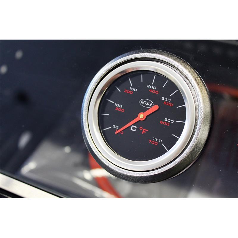 Rösle BBQ-Station VIDERO G4 schwarz Gasgrill pulverbeschichtet Stahl Thermometer **