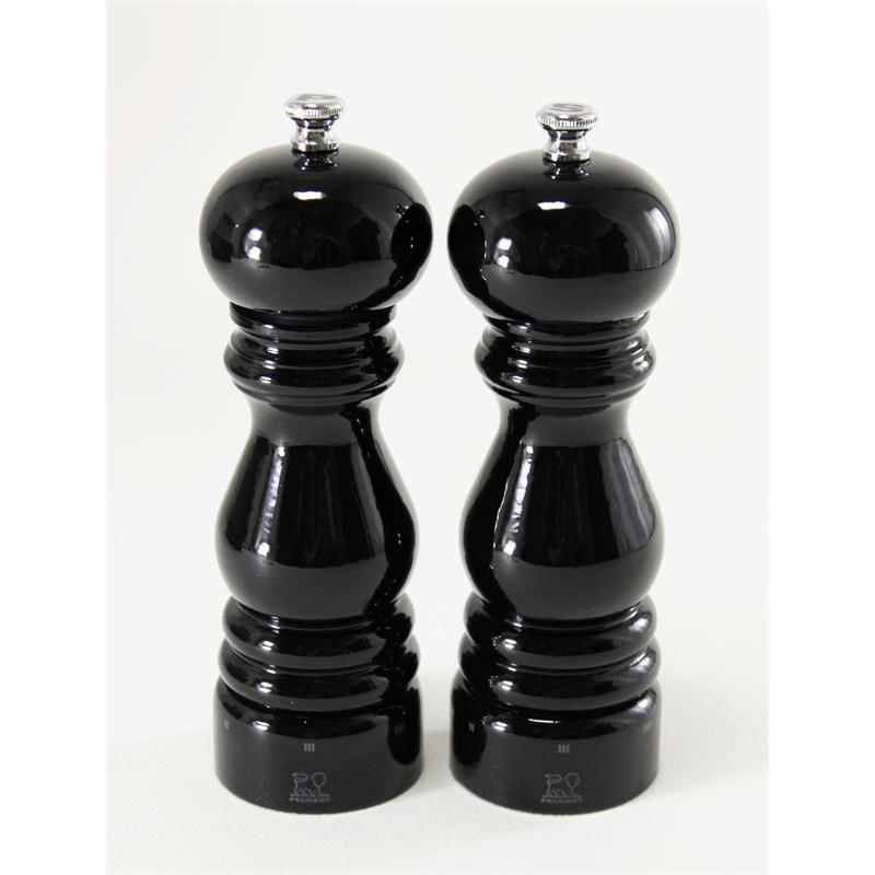 peugeot duo paris u select pfefferm hle salzm hle schwarz lackiert 18 cm 2er ebay. Black Bedroom Furniture Sets. Home Design Ideas