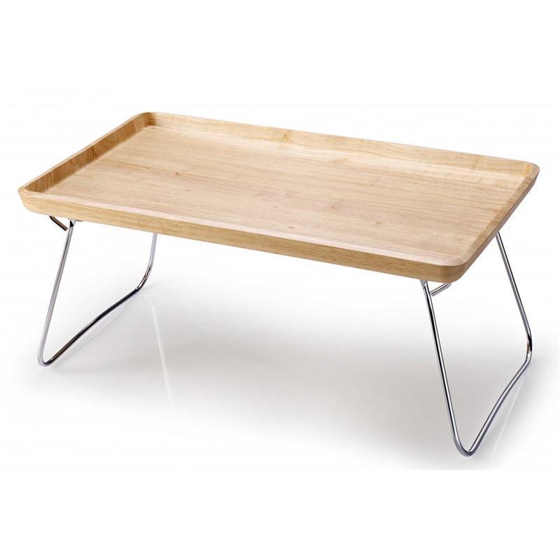 continenta betttablett gummibaumholz natur 53x32x7 cm bett tablett ebay. Black Bedroom Furniture Sets. Home Design Ideas