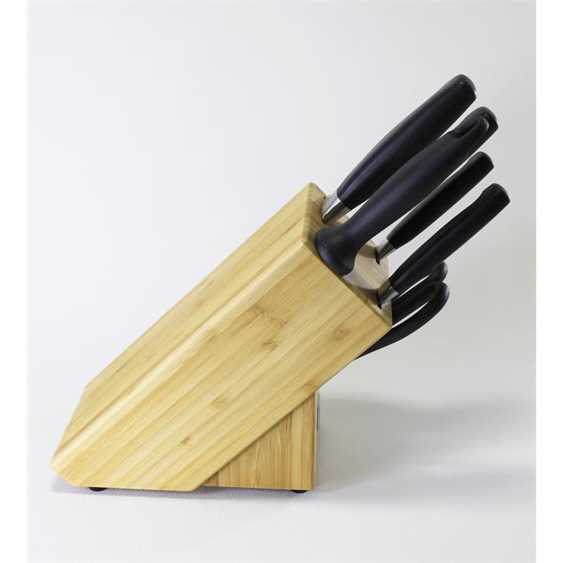 zwilling vier sterne messerblock 7 tlg bambus 35068 002 mit schere ebay. Black Bedroom Furniture Sets. Home Design Ideas