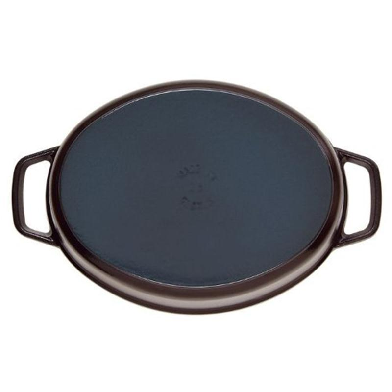 staub cocotte br ter oval 33 cm kirschrot 6 7 ltr gusseisen induktion rot. Black Bedroom Furniture Sets. Home Design Ideas