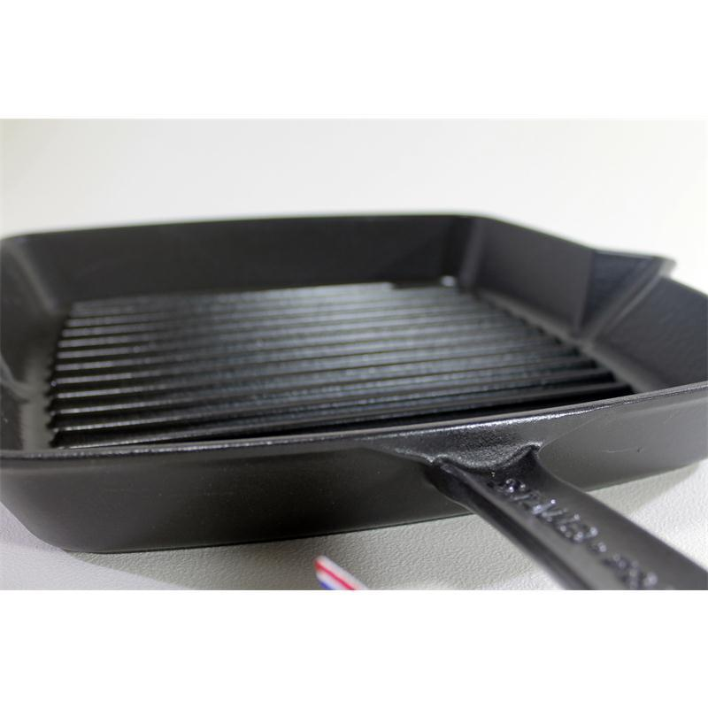 Staub Grillpfanne 30 x 30 cm quadratisch Gusseisen Induktion schwarz