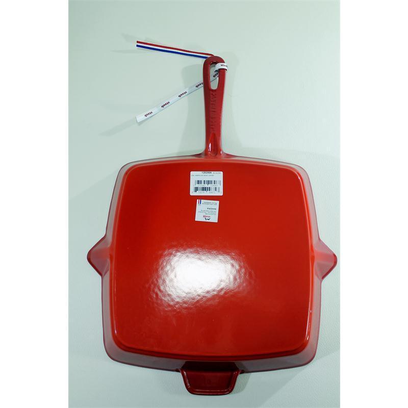 Staub Grillpfanne 30 x 30 cm quadratisch Gusseisen Induktion kirschrot rot
