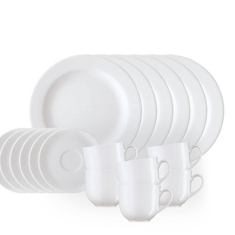 Kaffeeset 18 pces Arzberg blanc Blanc Service à Café Café Set Tasses Assiettes