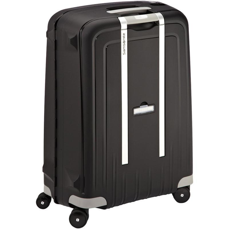 samsonite s 39 cure trolley 69 schwarz 4 rollen spinner koffer hartschale. Black Bedroom Furniture Sets. Home Design Ideas