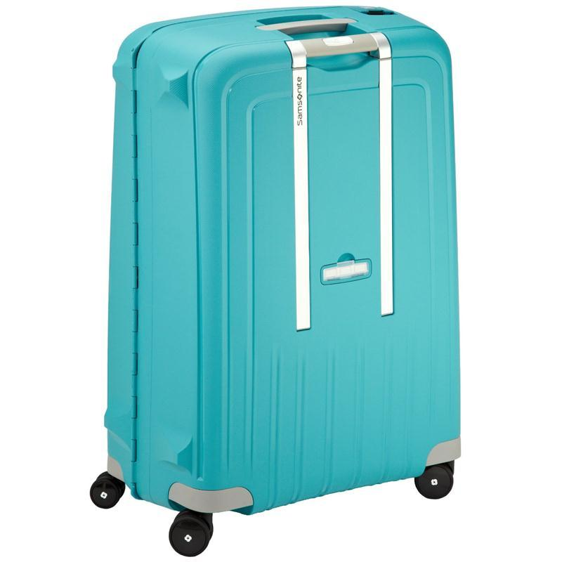 samsonite s 39 cure trolley 75 aqua blue 4 rollen spinner. Black Bedroom Furniture Sets. Home Design Ideas