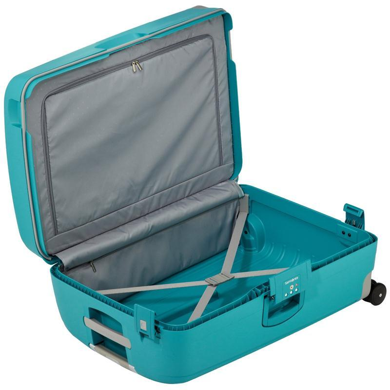 samsonite s 39 cure trolley 69 aqua blue 4 rollen spinner. Black Bedroom Furniture Sets. Home Design Ideas