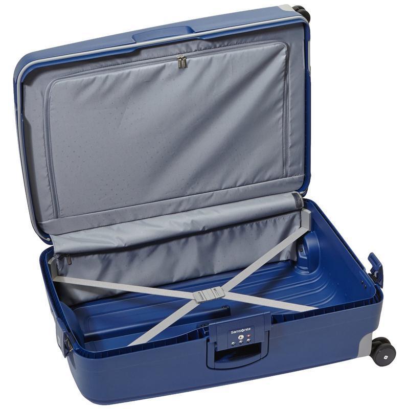 samsonite s 39 cure trolley 75 blau 4 rollen spinner koffer. Black Bedroom Furniture Sets. Home Design Ideas